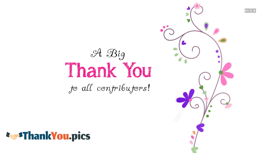 Thank You Images for Contributors