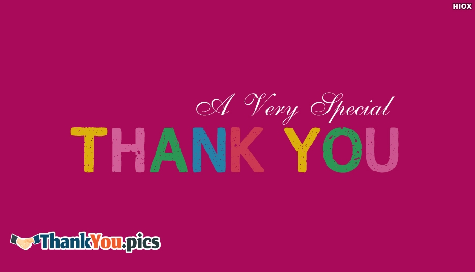 A Very Special Thank You - Special Thank You Images