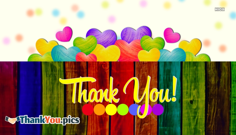 Colourful Thank You Images