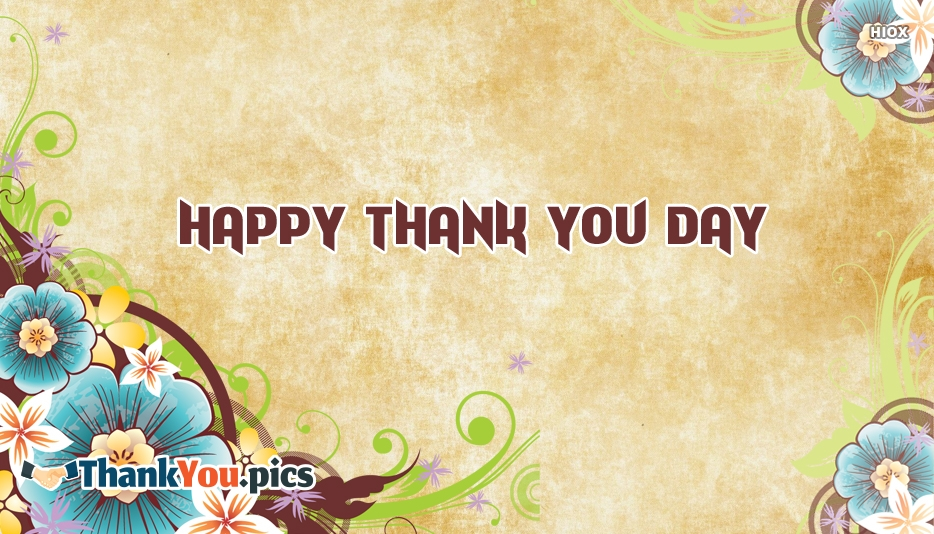 Happy Thank You Day Image