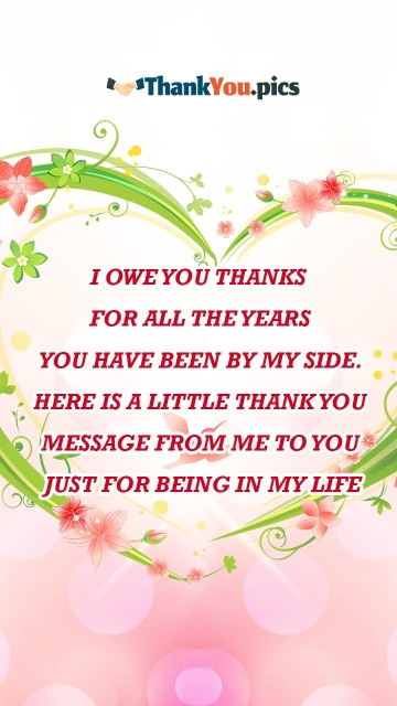 Thank You Love Message