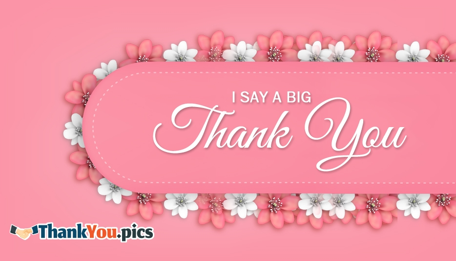 I Say A Big Thank You - Thank You Images for Colleagues