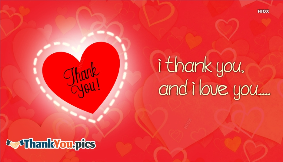I Thank You And I Love You Message