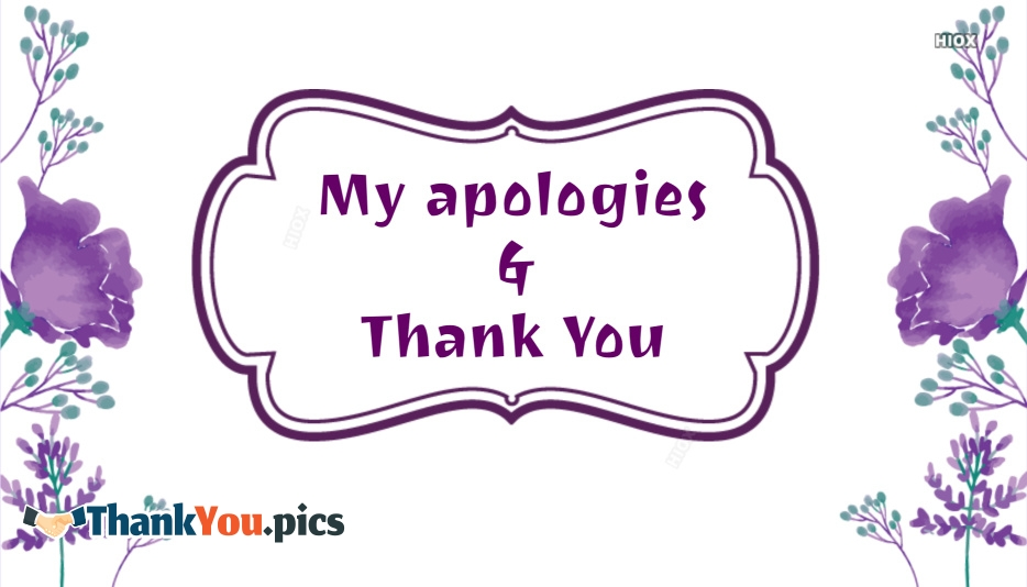 Apology And Thank You Images
