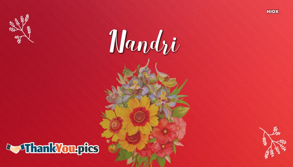 Thank You Nandri Images