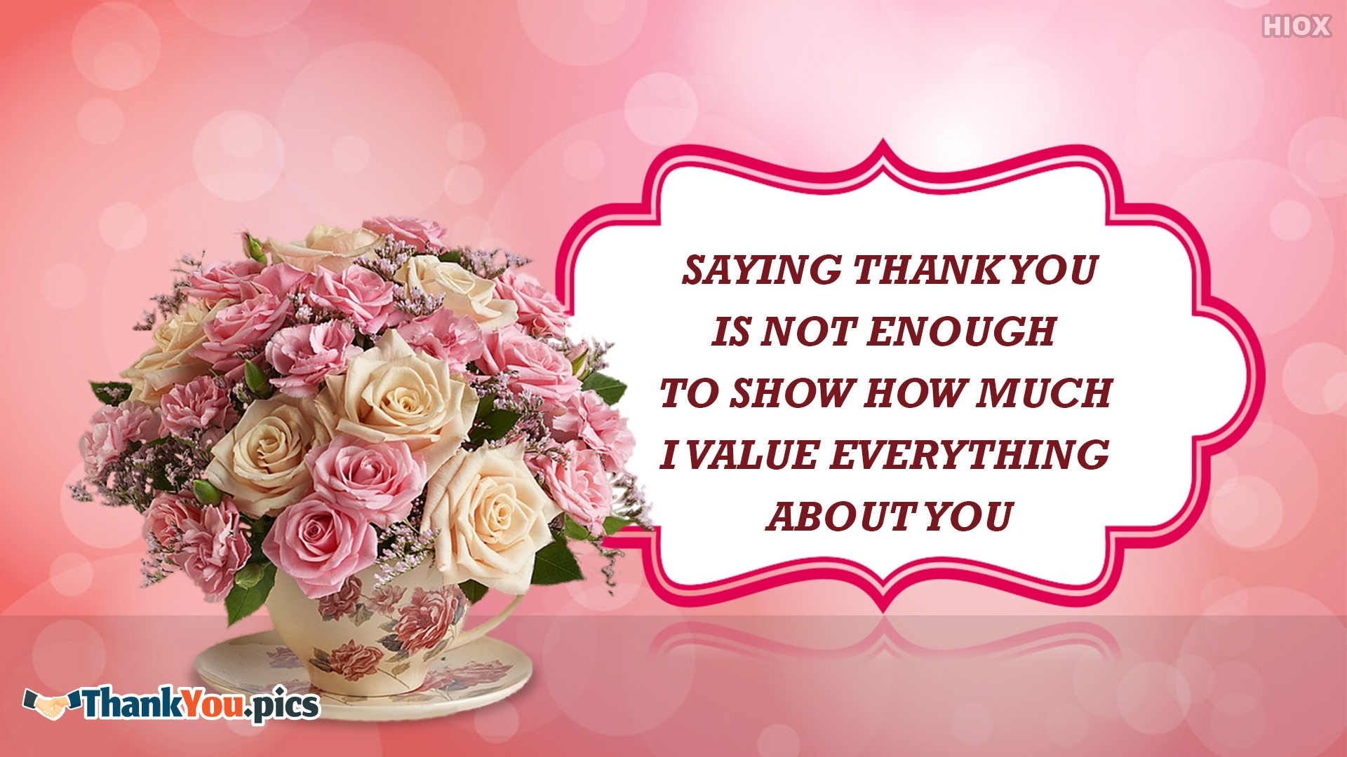 Saying Thank You Is Not Enough Message