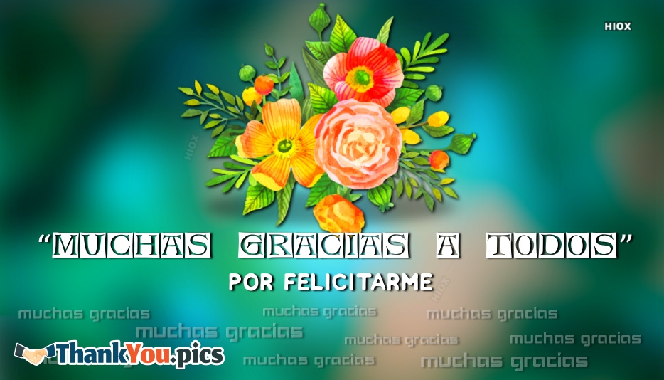 Thank You All Very Much For Congratulating Me In Spanish | Muchas Gracias A Todos Por Felicitarme