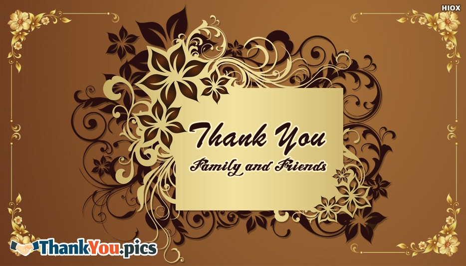 Thank You Images for Family And Friends