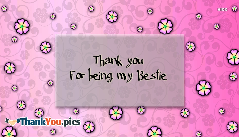 Thank You Bestie Images