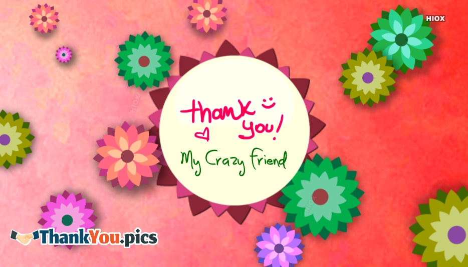 Thank You My Crazy Friend