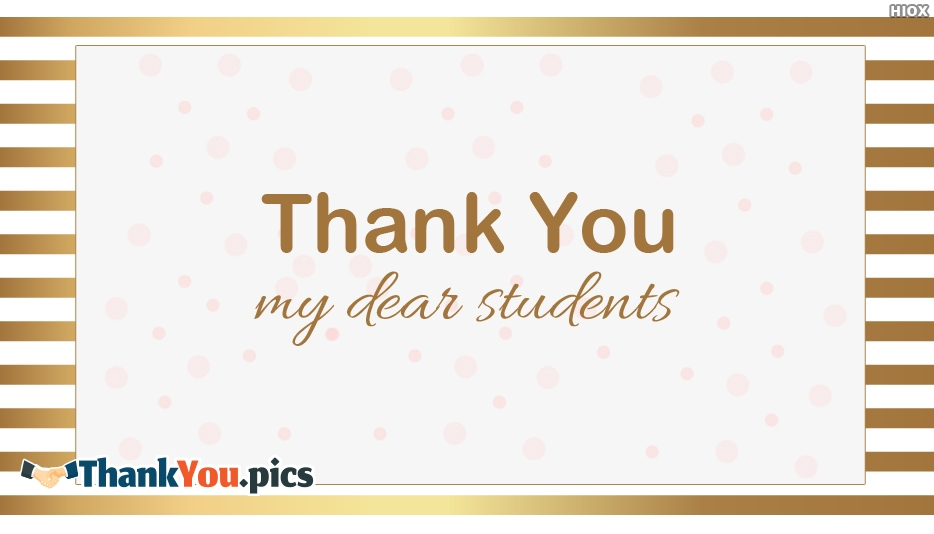Thank You Students Images