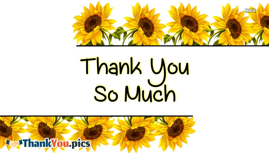 Thank You So Much Images With Flowers