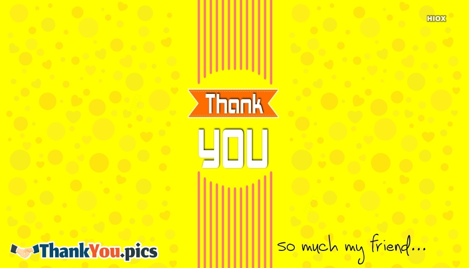 Thank You For Your Friendship Images