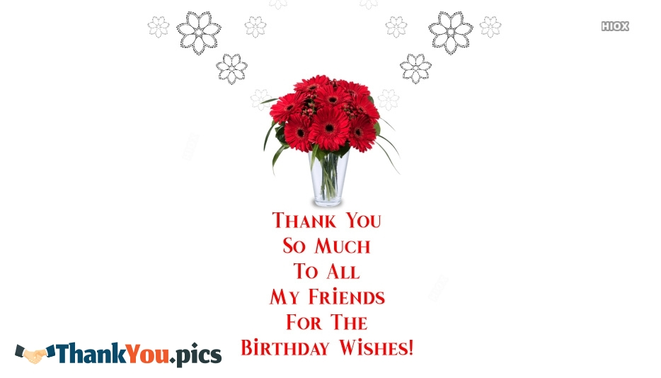 Thank You So Much To All My Friends For The Birthday Wishes