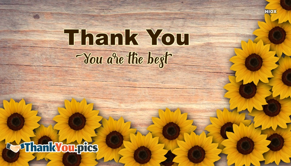 You Are The Best Thank You Images