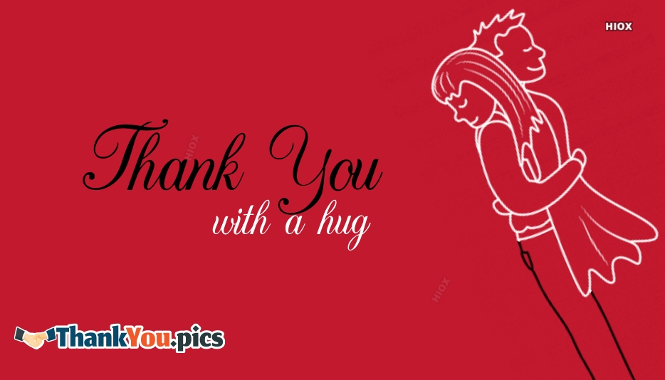 Thank You With A Hug Image