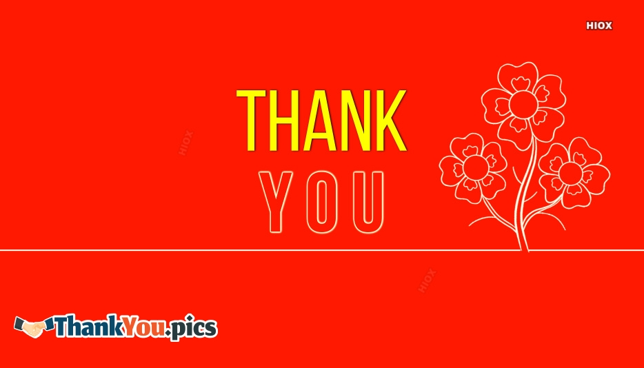 Thank You With Flowers Clipart