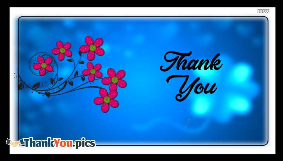 Thank You With Flowers Images