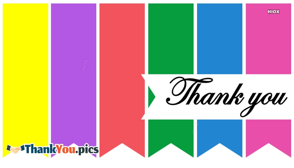 Thankyou Colorful Image