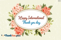 Happy International Thank You Day
