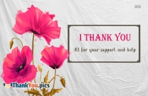 Thank You Support Messages