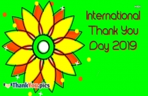 International Thank You Day 2019
