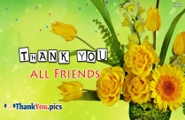 Thank You All Friends Images