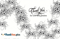 Thank You Card For New Year Wishes