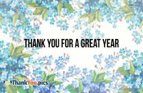 Thank You For A Great Year