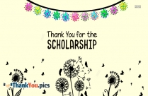 Thank You For A Scholarship