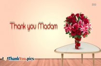 Thank You Madam Image