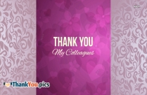 Thank You My Colleagues Image