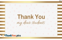 Thank You My Dear Students