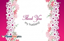 Thank You My Husband Image