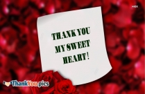 Thank You My Sweet Heart Picture