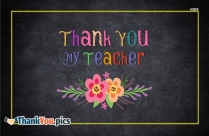 Thank You My Teacher Image