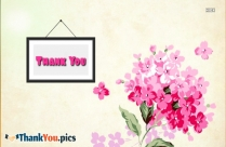 Thank You Pink Flowers