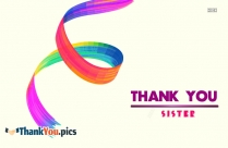 Thank you image for sister