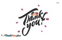 Thank You With A Kiss Images