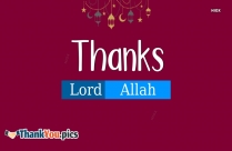 Thanks To Allah Dp