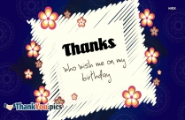 Thanks Friends For Your Wishes Image
