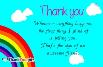 Thanks you Images and Messages for friendship