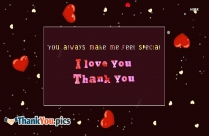 You Always Make Me Feel Special Quote