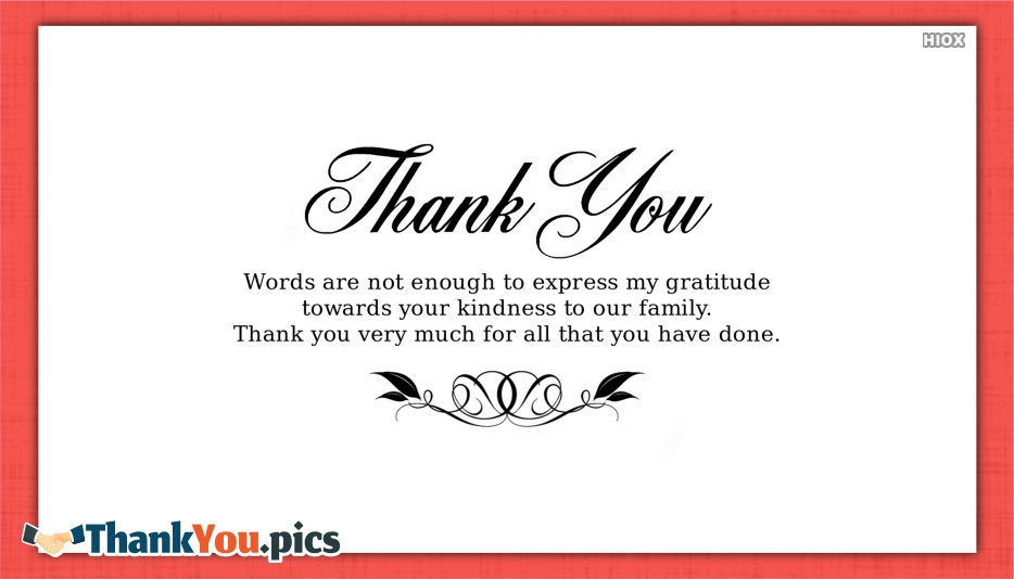 Thank You Words Images, Pictures